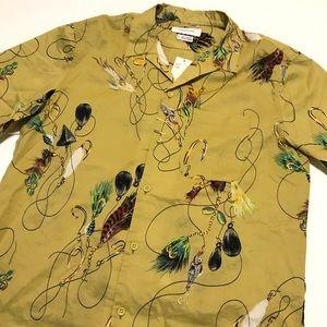 Urban Outfitters Shirt Fly Fishing Print Medium